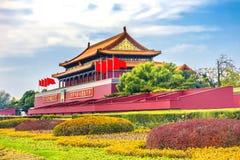 Palazzo Pechino Cina di Gugong la Città proibita del portone di Tiananmen immagini stock