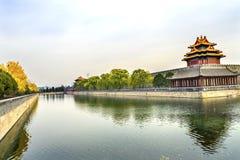 Palazzo Pechino Cina di Gugong la Città proibita della torre dell'orologio della freccia Immagini Stock Libere da Diritti