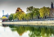 Palazzo Pechino Cina di Gugong la Città proibita della torre dell'orologio della freccia Immagine Stock Libera da Diritti