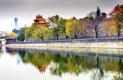 Palazzo Pechino Cina di Gugong la Città proibita della torre dell'orologio della freccia Fotografia Stock