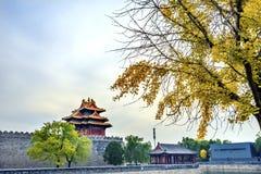 Palazzo Pechino Cina di Gugong la Città proibita della torre dell'orologio della freccia immagine stock