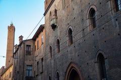 Palazzo Pepoli, дом музея истории болонья, Италии стоковая фотография rf