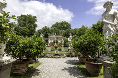 Palazzo Pfanner gardens in Lucca Royalty Free Stock Images