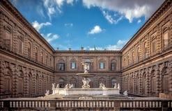 Palazzo Pitti在佛罗伦萨,意大利 免版税库存照片