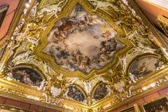 Palazzo Pitti,佛罗伦萨,意大利内部  免版税库存照片