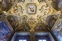 Palazzo Pitti,佛罗伦萨,意大利内部  图库摄影