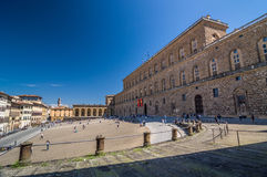 Palazzo Pitti, è un vasto pricipalmente palazzo di rinascita a Firenze Fotografie Stock Libere da Diritti