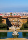 The Palazzo Pitti. Famous palace in Florence, Italy, photo was taken in February Stock Image