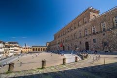 Palazzo Pitti, is een enorm hoofdzakelijk Renaissancepaleis in Florence Royalty-vrije Stock Foto's