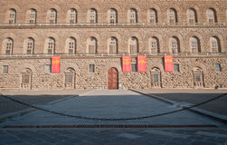 Palazzo Pitti. In English sometimes called the Pitti Palace, is a vast mainly Renaissance palace in Florence, Italy. It is situated on the south side of the Stock Images