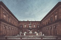 Palazzo Pitti in Florence royalty-vrije stock afbeelding