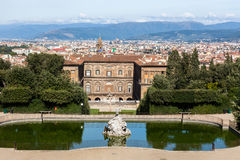 Palazzo Pitti With Florence In The Background Stock Photography