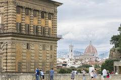 Palazzo Pitti, Florence, Italien royaltyfri foto
