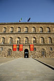 Palazzo Pitti in Florence (Toscanië, Italië) Stock Foto's