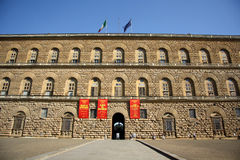 Palazzo Pitti in Florence (Toscanië, Italië) Stock Afbeelding
