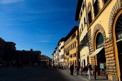 The Palazzo Pitti in front of the shop Stock Images