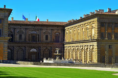 Palazzo Pitti i Florence, Italien Royaltyfri Fotografi