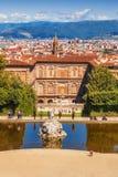 5 05 2017 - Palazzo Pitti Pitti slott - tidigare uppehåll av den Medici familjen, Florence Royaltyfria Bilder