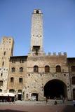 Palazzo Podesta i San Gimignano (Italien) Royaltyfria Foton