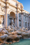 Palazzo Poli, triumphal arch and Oceanus on Trevi fountain in Rome, Italy Royalty Free Stock Image