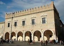 Palazzo Prefettizio - Pesaro (ITALIË) Stock Fotografie