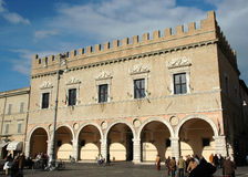 Palazzo Prefettizio - Pesaro (ITALIË) Royalty-vrije Stock Afbeeldingen