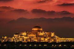 Palazzo presidenziale Abu Dhabi dei UAE immagine stock libera da diritti