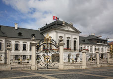 Palazzo presidenziale a Bratislava slovakia Fotografia Stock