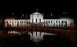 Palazzo presidenziale (palazzo di Grassalkovich) Fotografia Stock Libera da Diritti