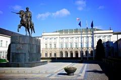 Palazzo presidenziale, Polonia Fotografia Stock Libera da Diritti