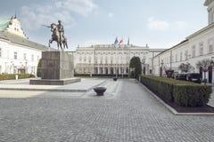 Palazzo presidenziale a Varsavia Immagini Stock Libere da Diritti