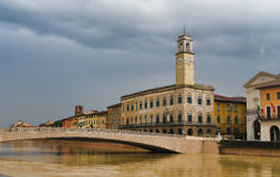 Palazzo Pretorio в Пизе, Тоскане, Италии Стоковое Фото