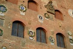 Palazzo Pretorio - Detail of the facade Stock Photo