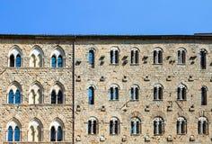 Palazzo Pretorio Facade, Volterra, Tuscany, Italy Stock Photo