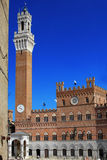 Palazzo pubblic dell'IL nella piazza del campo, Siena Fotografie Stock