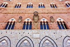Palazzo Pubblico,城镇厅,托斯卡纳,意大利 免版税库存图片