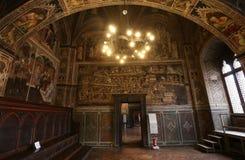 Palazzo Pubblico,锡耶纳,意大利内部和细节  库存照片