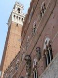 Palazzo Pubblico e Torre del Mangia, Siena Stock Photos