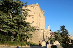 Palazzo Pubblico em San Marino Foto de Stock