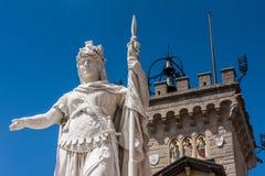 Palazzo Pubblico en San Marino Imágenes de archivo libres de regalías