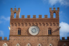 Palazzo Pubblico In Siena Royalty Free Stock Photography
