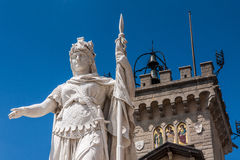 Palazzo Pubblico nel San Marino immagini stock libere da diritti