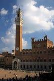 Palazzo Pubblico on the Piazza del Campo in Siena Stock Photos