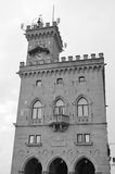 Palazzo Pubblico in San Marino Royalty-vrije Stock Foto's