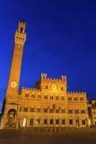 Palazzo Pubblico on Siena's Piazza del Campo in Italy Stock Image