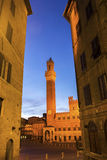 Palazzo Pubblico on Siena's Piazza del Campo in Italy Royalty Free Stock Photo