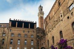 Palazzo Pubblico, Siena, Tuscany, Italien fotografering för bildbyråer