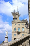 Palazzo Pubblico and Statue of Liberty in San Marino, Italy Stock Photography