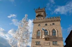 Palazzo Publico圣马力诺 图库摄影