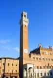 Palazzo Publico en Piazz del Campo, Siena, Italia Imágenes de archivo libres de regalías